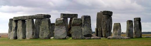 Panoramisches stonehenge Lizenzfreie Stockfotos