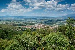 Panoramisches Trieb von Sokobanja Lizenzfreies Stockbild