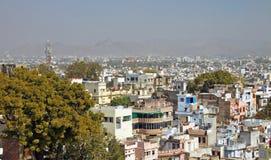 Panoramisches viewl in Udaipur, Rajasthan, Indien Lizenzfreie Stockbilder