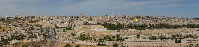 Panoramma de Jérusalem images libres de droits