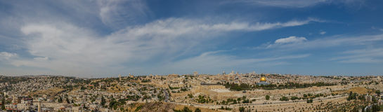 Panoramma van Jeruzalem royalty-vrije stock foto's