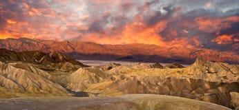 panoramy śmiertelna dolina Zdjęcia Royalty Free