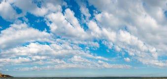 panoramy błękitny niebo Zdjęcie Royalty Free
