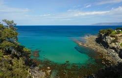 panoramy campingowy morze Zdjęcie Stock