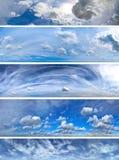 Panoramy chmur paczka Obrazy Stock