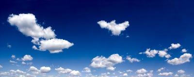 panoramy chmurny niebo Zdjęcie Stock
