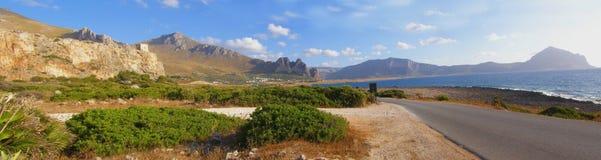 panoramy drogi nadmorski Zdjęcia Stock