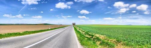 panoramy drogi wiosna Zdjęcia Stock