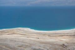 Panoramy fotografia Nieżywy morze w Izrael od masada góry Zdjęcie Royalty Free