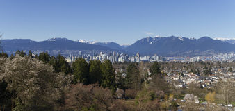 Vancouver panorama fotografia royalty free