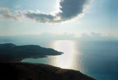 panoramy halny morze Zdjęcie Stock