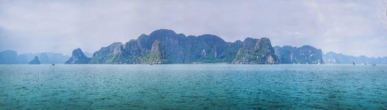 Panoramy Halong zatoka Wietnam Obrazy Stock