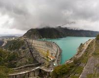 Panoramy Inguri rezerwuar w Gruzja Zdjęcie Stock