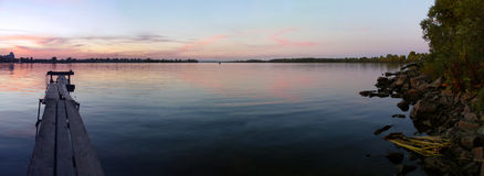Panoramy jesieni wieczór Zdjęcia Royalty Free