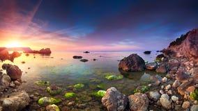 panoramy kolorowy sanset Obraz Stock