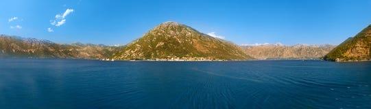 Panoramy Kotor zatoka w Montenegro obraz royalty free