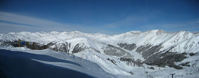 panoramy kurortu narta Obraz Royalty Free
