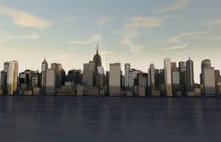 Panoramy linia horyzontu ilustracja wektor