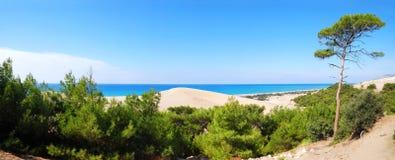 panoramy morza widok Fotografia Royalty Free