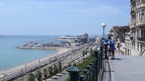 Panoramy morze i kolej zbiory wideo