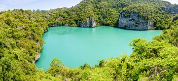 Panoramy Mu Ko Ang paska park narodowy Obrazy Royalty Free