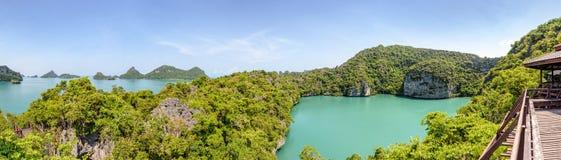 Panoramy Mu Ko Ang paska park narodowy Obraz Stock