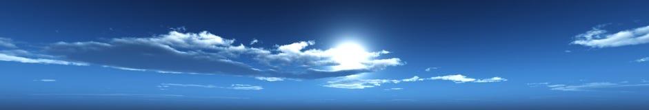Panoramy nieba panoramy chmury Obrazy Royalty Free