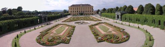 panoramy ogrodowy schonbrunn zdjęcia royalty free