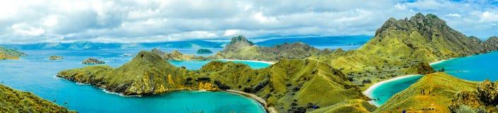 Panoramy Padar wyspa zdjęcia royalty free