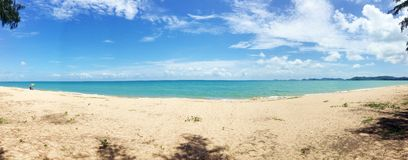 Panoramy plaża Fotografia Stock
