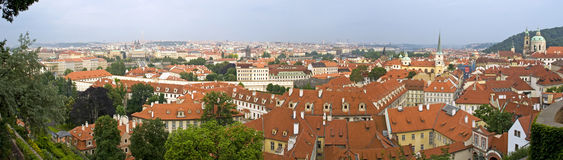 panoramy Prague dach Obrazy Stock