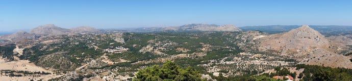 Panoramy Rhodes góra Zdjęcie Stock