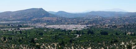 Panoramy Rhodes góra Obrazy Royalty Free