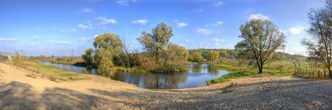 panoramy rzeka Obrazy Stock