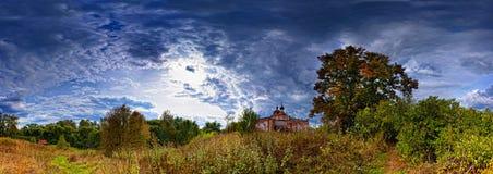 panoramy stara wioska Zdjęcia Stock