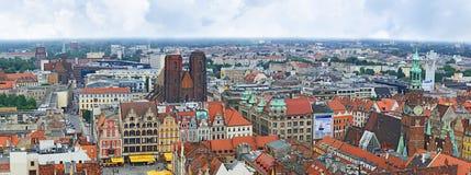 panoramy stary miasteczko Zdjęcie Royalty Free