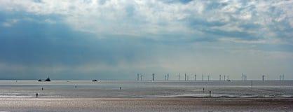 panoramy turbina wiatr zdjęcie stock