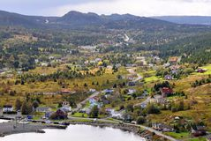 panoramy wioska obraz stock
