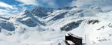 panoramy zima Zdjęcia Royalty Free