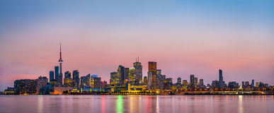 Panorana του Τορόντου, Καναδάς Στοκ Φωτογραφίες