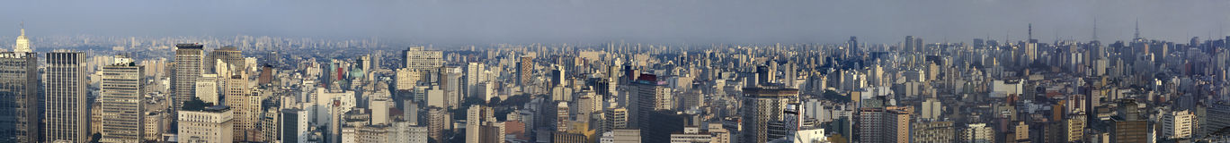 Panoranic sikt av São Paulo, Brasilien Royaltyfria Foton