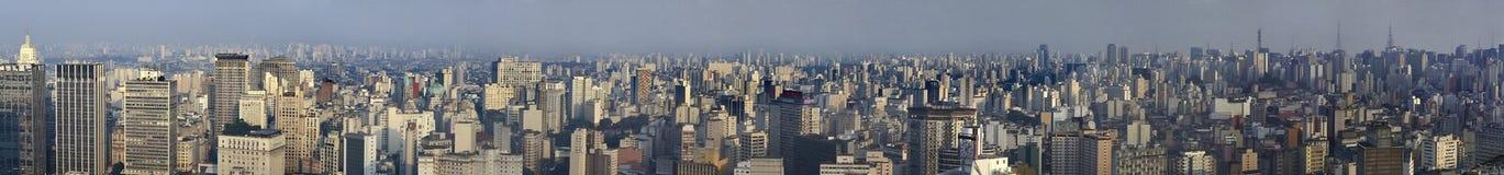 Panoranicmening van São Paulo, Brazilië Royalty-vrije Stock Foto's