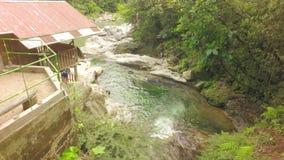 Panorera över Laguna Azul Near Tena Ecuador arkivfilmer