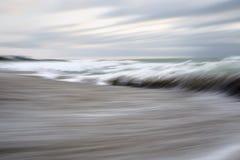 Panorera Blacket Sea i morgonen royaltyfri foto