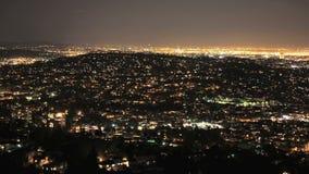 Panorera den Tid schackningsperioden av San Francisco Grid på natten lager videofilmer