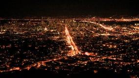 Panorera Timelapse av San Francisco Bay på natten stock video