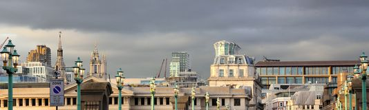 A panorimic view of a London skyline Royalty Free Stock Image
