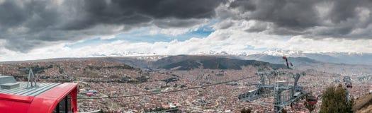 Panorma 360 Λα Παζ εικονικής παράστασης πόλης, Βολιβία Στοκ Φωτογραφία