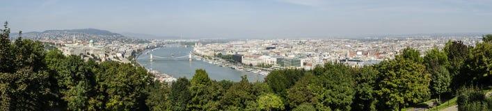 Panorma της Βουδαπέστης Στοκ Εικόνες