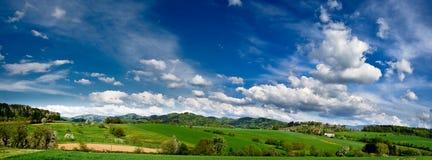 Panorma da paisagem da mola Fotos de Stock Royalty Free